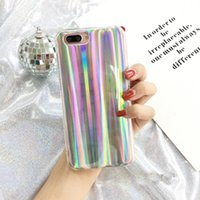 Wholesale Harajuku Case - Harajuku Retro Laser Cases for iPhone 7 Case Glitter Bling Bling TPU Silicone Cover for iPhone 6 6s 7 Plus Phone Bag