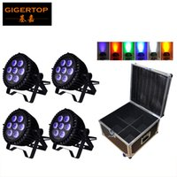 Wholesale Wall Washer 18w - 4IN1 Flightcase Packing 18W*7 Led Waterproof Par Can RGBWA UV 6 Color Uplighting Lights for Wedding Party Big Lens Smooth Stage Wall Washer