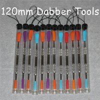 Wholesale 100pcs Wax dabbers Dabbing tool with silicone tips mm glass dabber tool Stainless Steel Pipe Cleaning Tool and Plastic Tubes