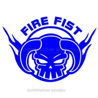 Wholesale Reflective Fire - Car sticker One Piece Hood affixed Fire fist Esther Waterproof Locomotive Personalized decals Reflective film carved car stickers