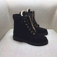Wholesale Lace Up Buckle Strap Boots - New Style Famous Brand Designer Women Sneakers Casual Shoes Genuine Leather Lace-Up High Top Zipper Decorative Ankle Boots Size 35-40