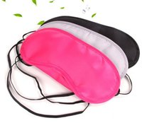 Wholesale Shading Cover - Black 50pcs lot Eye Mask Shade Cover Blindfold Sleeping Travel Free shipping 100% New AAAA quality