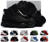 Wholesale China Sneakers Shoes Wholesale - Basketball Shoes Retro 13 Dmp KID Red Air Retros 13s Xiii Low Children Youth Sport Femme Homme China Replica Sneakers DHL FREE
