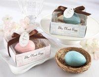 Wholesale Cheap Soap Favors - EPACK Wedding Favors Nest Egg Soap Gift box cheap Practical Unique Wedding Bath & Soaps Small Favors 20pcs lot new