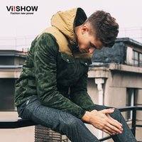 Wholesale Casual Cargo Jacket - Wholesale- Viishow Winter Jacket Men Brand Army Green Hooded Duck Down Parka Coat Men Casual Cargo Warm Jacket Oversize M-3XL