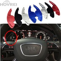 Wholesale Q7 Wheels Q5 - 1PAIR car Aluminum Steering Wheel Shift Paddle Extended for Audi A3 A4L A5 A6L A8 Q3 Q5 Q7 S5 TT