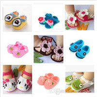 765c07cbf3245 Baby Crochet Bootie Toddlers Handmade Booties Infant Manual Shoes Hand-Crocheted  First Walker Shoes Baby Shoes Knitting Princess Shoe D488