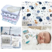 Wholesale Aden Anais Swaddling - Aden Anais Muslin Swaddle Blanket Infant Newborn Baby Cotton muslin blanket 120x120cm Gauze Bath Towel Muslin Swaddle
