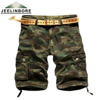 Camouflage Cargo Shorts all'ingrosso-Uomo Casual Fit Camo Cargo Shorts corti
