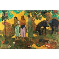 Wholesale paul gauguin paintings for sale - Group buy Handmade Paul Gauguin paintings Landscapes Rupe Rupe Fruit gathering modern art oil on canvas for living decor