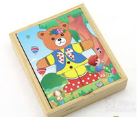 Wholesale Baby Clothes Delivery - Wholesale- Free delivery factory price educational toys bear Change clothes puzzles, baby clothing puzzles, children's wooden toys