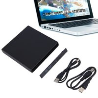 Wholesale Sata Usb For Dvd Laptop - Wholesale- High Quality Portable USB 2.0 DVD CD DVD-Rom SATA External Case Slim for Laptop Notebook,in stock!