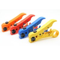 Wholesale Cutter Tool Coax Cable - Flat or Round UTP Cat5 Cat6 Wire Coax Coaxial Stripping Tool Universal Cable Stripper Cutter Stripping Pliers Tool for Network