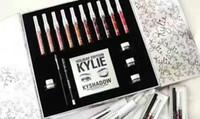 Wholesale White Cream Eyeliner - 2017 kylie holiday edition makeup set kylie cosmetics 10pcs lipsticks+1 set eyeliner+kyshadow+eye cream big box hot sale best christmas gift