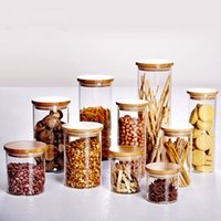 Glass spice bins - Creative grain Storage Tank candy box grain storage bin food collection jar bottle diameter cm