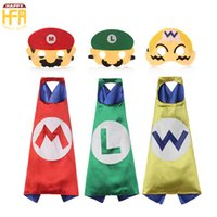 Kostüm Cartoon Mario Kaufen -70 * 70Cm Halloween Kostüme Cape Bekleidung Comics Super Mario Cartoon Capes Nette Kostüme für Kinder Halloween Party Dekoration
