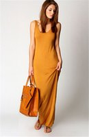 Wholesale stretchy long dress - Summer Women Vest Tank Maxi Dress Silk Stretchy Casual Summer Long Dresses Sleeveless Backless Lady Dress Clothing Newest