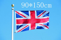 Wholesale United Fiber - The United Kingdom Banners 90*150cm 3*5ft England National Flag Great Britain Oriflamme Polyester Fiber U.K Flags High Quality 5qt R