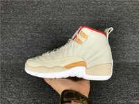 Wholesale Chinese Canvas - Free shipping Wholesale air retro 12 Chinese New Year women basketball shoes GS womens real carbon fiber CNY trainers sports sneakers 36-40