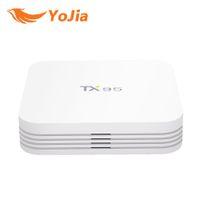 Wholesale Dual Core Tv Box Amlogic - 2GB 16GB Support H.265 4K H.265 2.4G 5G Dual WiFi BT4.1 Media Player TX95 Amlogic S905X Android TV BOX