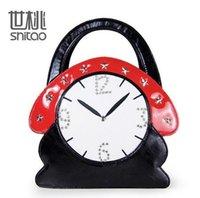 Wholesale Hip Hop Clocks - factory sales brand handbag full Handmade ladies handbag and other fun hip-hop stereo clock Diamond Ladies Handbag