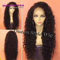 Hot Sexy Natural Black Hair Wig Synthétique résistant à la chaleur Black woman natural hairly perruque front perruque à vendre