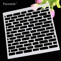 Wholesale Plastic Layering Stencils For DIY Scrapbooking Photo Album Decorative Crafts Planner Stencil Tool For Album Card