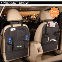 Wholesale High Grade Car Seat Organizer Universal Blankets Multi Pocket Insulation Automobile Seat Back Humanized Storage Bag Felt Covers