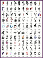 Wholesale Flower Tattoo Books - Wholesale- Book 1 Hot sale Golden phoenix temporary airbrush tattoo stencil for body painting animals and flowers designs free shipping