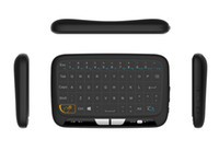 ingrosso tastiera senza fili linux-2017 La più recente tastiera wireless H18 Mini 2.4G con tastiera touchscreen Full Touchpad per Windows TV Box Android Linux T95M X96 MXQ PRO