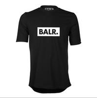 ingrosso camicie di marca balr-Alta qualità 2019 NUOVA moda Euro taglia Club baltr maglietta manica corta manica corta NL marchio di abbigliamento tondo fondo lungo posteriore t-shirt