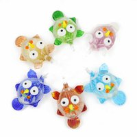 Charms owl jewelry box - Lampwork Animal Charm Pendants Handmade Christmas Owl Arts Pendant With Different Colors For Child Jewelry Findings Diy box MC0066