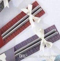 palillos de acero inoxidable de grado al por mayor-Palillos de acero inoxidable Inicio Cocina Vajilla Estilo chino Práctico Chopstick Suministros de boda Embalaje de alto grado Venta caliente 1 1pr R