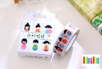 Wholesale Sweet Paper Doll - Wholesale- 2016 New sweet cartoon japan girl doll style paper masking Tape  Decoration stationery Tape   wholesale