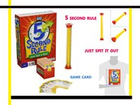Wholesale New Adult Board Games - 2017 NEW GAME 5 Second Rule board game - Just Spit it Out for adult 3 or more players free shipment
