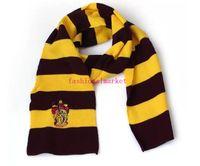 ingrosso sciarpa a righe blu-Navey blu verde vino rosso inverno New School Unisex a maglia Sciarpe a righe Grifondoro Sciarpe Harry Potter Tassorosso Sciarpe Cosplay sciarpe