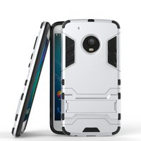 Wholesale E3 Tpu - 2 in 1 Hybrid Armor Phone Back Cover for Motorola Moto G5 Plus G4 Plus M E3 X Force PC+TPU Anti-knock Case with Stand