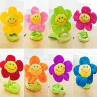 cortina de felpa de girassol venda por atacado-Crianças Plush Toys Bonito Floral Tieback Sorriso Girassol Cortina Cortina Cortina de Flor Fivela de Pano Acessórios de Cortina Da Janela