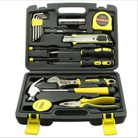 Wholesale Electrical Tools Sets - DHL home garden tools Hardware toolbox 39 sets of manual tools kit for electric carpenter maintenance Hammer Screwdriver 3M Tape