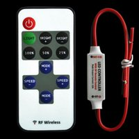Grossiste-12V sans fil RF Remote Switch Controller Dimmer pour Mini LED Strip Light 5 ~ 24V