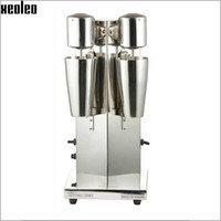Wholesale Xeoleo Milkshake machine Stainless Steel Milk Shake Machine Double Head Drink mixer Make Milks Foam Milkshake Bubble Tea Machine