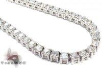 Wholesale E Chain - Mens Diamond Chain 26inches 4.5mm Round Cut E Color Link 14k White Gold 32.30ct