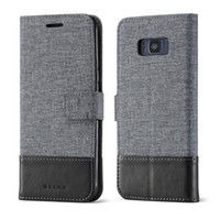 Wholesale Prime Series - For Galaxy Note 8 S8 Plus MUXMA series Gunny Cloth Wallet Leather Case Hybrid Phone Cases Cover For Samsung J2 Prime C9 Pro