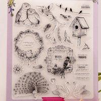 Wholesale Photo Farms - Wholesale- bird big size stamps for scrapbooking DIY farm sellos carimbo ACRYLIC clear STAMPS FOR PHOTO timbri SCRAPBOOKING stamp