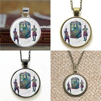 Wholesale doctor print for sale - Group buy 10pcs Tardis Doctor Who Matt Smith and Peter Capaldi Art Print Necklace keyring bookmark cufflink earring bracelet