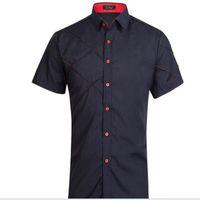 Wholesale Grid Shelves - Autumn New Fashion Shelves Grid Fold Europe and the United States Short Sleeve Shirt Men Shirt