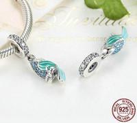 Wholesale Parrot Christmas - 100% 925 Sterling Silver Tropical Parrot Charm Beads Fit Original Pandora Bracelet Pendant Authentic Fine Jewelry