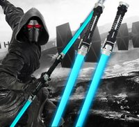2 Pieces Star Wars Lightsaber Sound Light Sword Toy Cosplay Props Kids Double Light Saber Toy Sword para Meninos Presentes de Natal b990