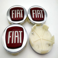 Wholesale Caps For Rims - High Quality ABS 60mm Auto Car Wheel Center Hub Caps Rim Caps FIAT Logo Emblem Badge for Fiat Viaggio CAR styling