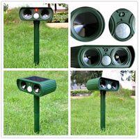 Wholesale Cat Power Animal - Green Garden Cat Dog Pest Repeller Solar Power Ultra Sonic Scarer Frighten Animal Repellent Outdoor Use